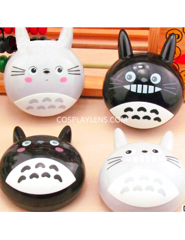 Cute Anime Grey Black Totoro Travel Portable Contact Lens Case Storage Kit
