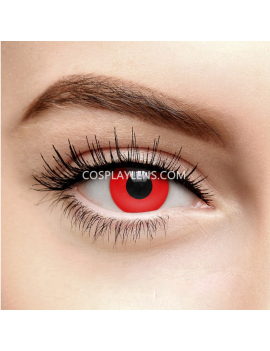 Red Halloween Zombie Crazy Cosplay Contact Lenses
