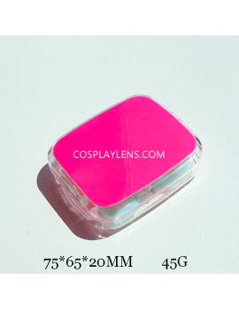 Hot Pink Travel Portable Contact Lens Case Storage Kit