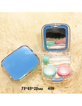 Blue Travel Portable Contact Lens Case Storage Kit