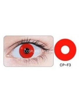 Zombie Pure Red Halloween Unicorn Crazy Cosplay Contact Lenses 14.5mm