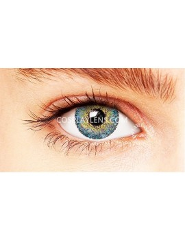 Natural Elegant Blue Coloured Contact Lenses 14.5mm