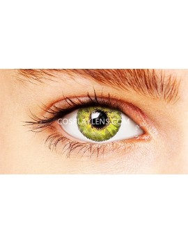 Natural Elegant Green Unicorn Coloured Contact Lenses 14.5mm