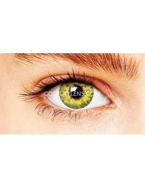 Natural Elegant Green Unicorn Coloured Contact Lenses 14.5mm