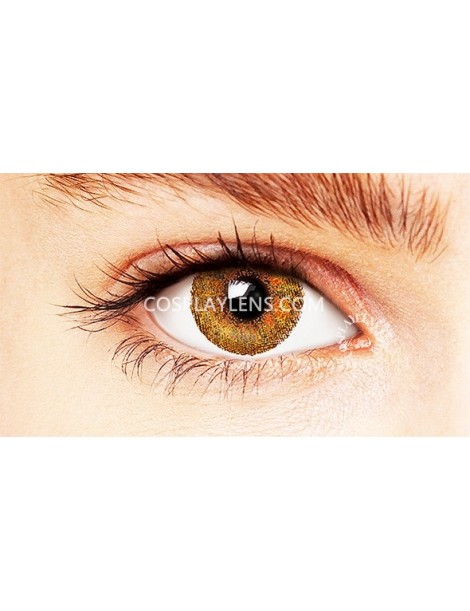 Natural Elegant Brown Coloured Contact Lenses 14.5mm