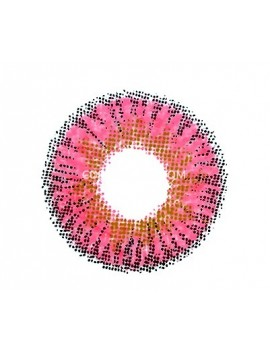 Ocean Red Pink Natural Unicorn Coloured Contact Lenses 14.5mm