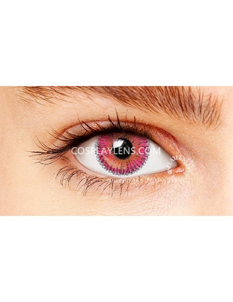 Ocean Red Pink Natural Coloured Contact Lenses 14.5mm