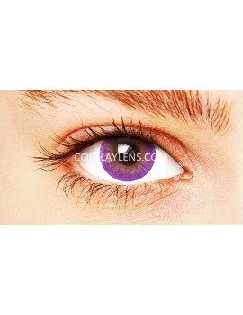 Natural Purple Coloured Contact Lenses 14.5mm