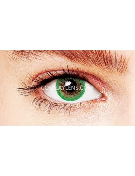 Natural Green Coloured Contact Lenses 14.5mm
