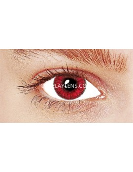 Sapphire Red Crazy Cosplay Contact Lenses