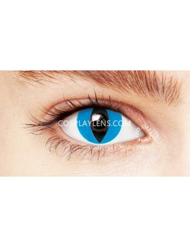 Cat Eye Blue Crazy Cosplay Contact Lenses