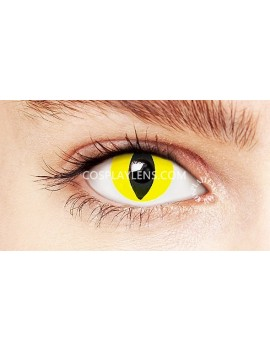 Cat Eye Yellow Crazy Cosplay Contact Lenses