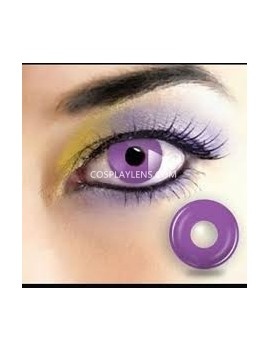Purple Solid Fluorescent Crazy Cosplay Contact Lenses