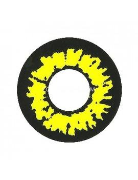 Fantasy Yellow Crazy Cosplay Contact Lenses