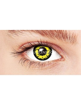 Fantasy Yellow Crazy Cosplay Contact Lenses