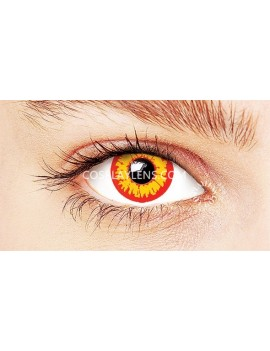 Fantasy Fire Yellow Red Unicorn Crazy Cosplay Contact Lenses
