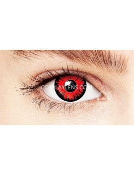 Fantasy Red Crazy Cosplay Contact Lenses