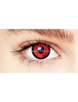 Fantasy Red Unicorn Crazy Cosplay Contact Lenses