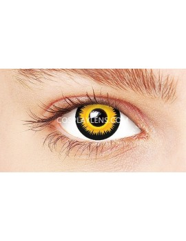 Golden Orange Yellow Crazy Cosplay Contact Lenses