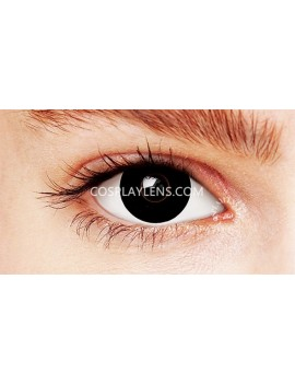 Halloween Black Crazy Cosplay Contact Lenses