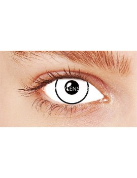 Halloween White Crazy Cosplay Contact Lenses