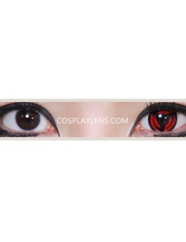 Kakashi Red Sharingan Unicorn Crazy Cosplay Contact Lenses before and after