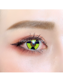 Radioactive Warning Crazy Cosplay Contact Lenses