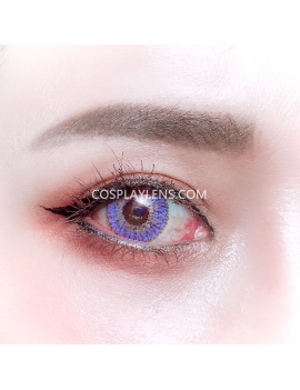 Ocean Purple Natural Unicorn Coloured Contact Lenses 14.5mm