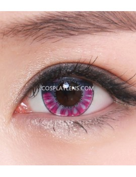 Purple Black Anime Crazy Cosplay Contact Lenses