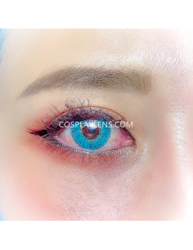 Ocean Aqua Natural Unicorn Coloured Contact Lenses 14.5mm