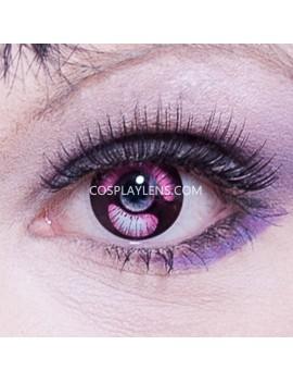 Purple Black Anime Crazy Cosplay Contact Lenses