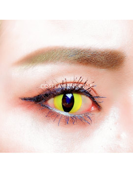 Cat Eye Yellow Unicorn Crazy Cosplay Contact Lenses