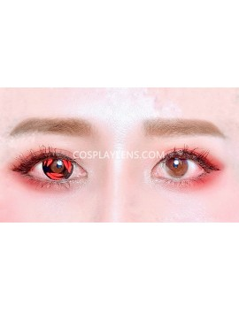 Kakashi Red Sharingan Unicorn Crazy Cosplay Contact Lenses before and after.