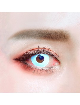 Zombie White Unicorn Crazy Cosplay Contact Lenses