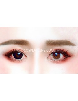 Halloween Black Unicorn Crazy Cosplay Contact Lenses before and after.