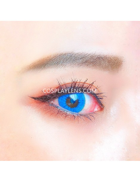 Sapphire Blue Unicorn Crazy Cosplay Contact Lenses