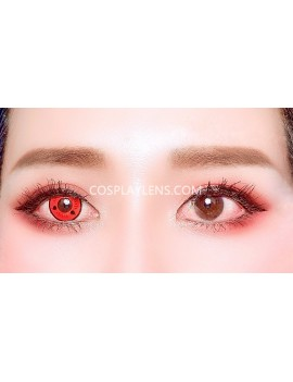 Sharingan Original Unicorn Crazy Cosplay Contact Lenses 14.5mm before and after.