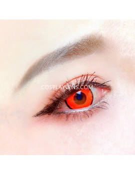 Halloween Pure Red Zombie Unicorn Crazy Cosplay Contact Lenses